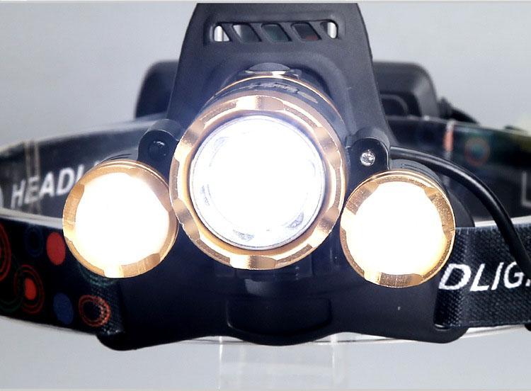 Đèn pin đội đầu 3 bóng siêu sáng T6